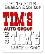2015-16 Season Sponsor Tim's Auto Group & Tim's GMC
